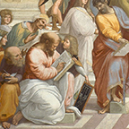 School of Athens detail of Pythagoras