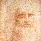 Presumed self-portrait of Leonardo da Vinci